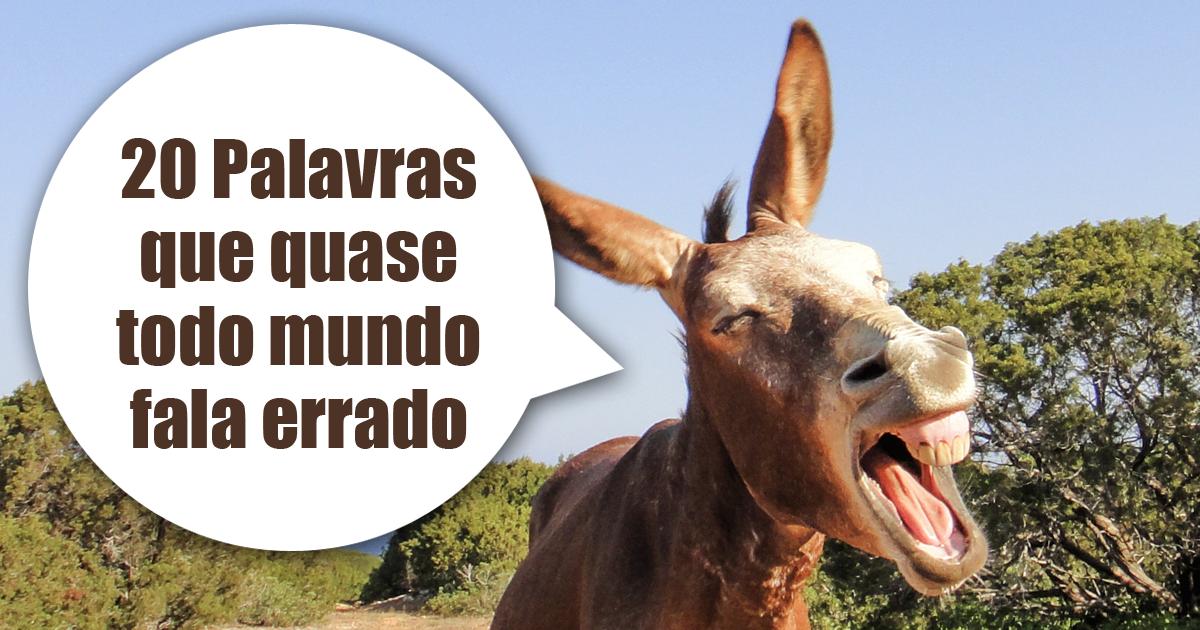 20 Palavras Que Quase Todo Mundo Fala Errado Dúvidas De Português